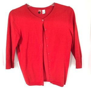 BP red cardigan Size M
